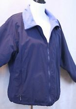 Columbia Fleece Lined Ladies Navy Blue Nylon Jacket SZ L EUC