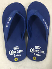 Men's Blue Corona Extra flip flops with logo on sole Size Med (9/10)