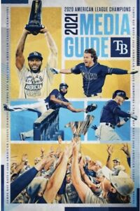 2021 MLB Baseball Tampa Bay Rays World Series AL Champions Media Guide