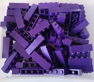 LEGO 1x4 Brick part 3010 In Dark Purple Pack of 50 New Ref:220