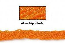 ALSB31 CZECH 11/0 Seed Beads-Transparent ORANGE (Hank)