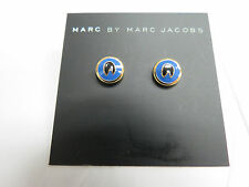 Marc by Marc Jacobs Foxglove Blue Stud Earrings $48 Authentic New NWT