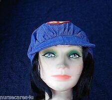 HIPPIE CAP HALLOWEEN COSTUME WOMAN'S DENIM CAP PEACE SIGN ATTACHED HAIR