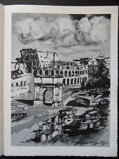 Walter SPITZER - Rome   - 2 gravures signées #1971 #322ex + justificatif