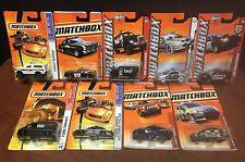 Matchbox Assorted Lot Of (9) Emergency Vehicles SWAT Police Park Ranger EM8066