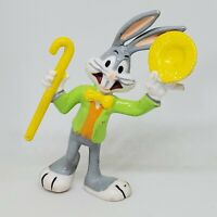 Vintage Bugs Bunny Hat Cane PVC Figure 1988 Looney Tunes Applause Cake Topper