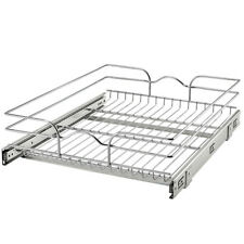 "Rev-A-Shelf 5WB1-1822CR-1 18"" x 22"" Single Kitchen Cabinet Pull Out Wire Basket"