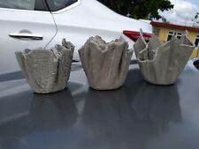 3 Handmade Concrete Planters