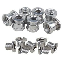 Chainring Bolts MTB Bike 6.5 Single 8.5mm Double Triple Speed Nuts Screws Steel