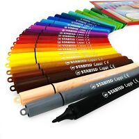 STABILO Cappi Fibre Tip Felt Tip Pens – Wallet of 24 Assorted Colours