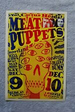 Meat Puppets Concert Tour poster 1989 Portland and Seattle__