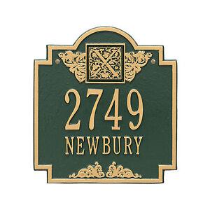 Monogram Personalized Address Plaque