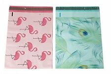 40 10x13 Blue Peacock Pink Flamingo Designer Mailers Poly Shipping Envelopes