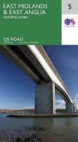 East Midlands & East Anglia by Ordnance Survey (Sheet map, folded book, 2016)