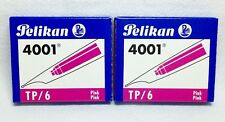 Pelikan Standard TP/6 Ink Cartridges Pink 2 Packs of 6 (Total of 12 Cartridges)