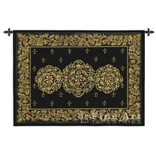 53x40 BLACK MEDALLION Fine Art Tapestry Wall Hanging