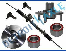 Power Steering Rack & Pinion + 2 Wheel Hub Bearing Assembly + 2 Outer Tie Rod
