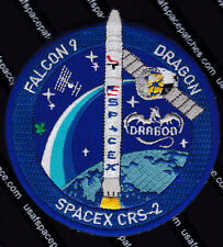 CRS-2 SPACEX FALCON 9 DRAGON ORIGINAL ISS NASA RE-SUPPLY SPACE MISSION PATCH