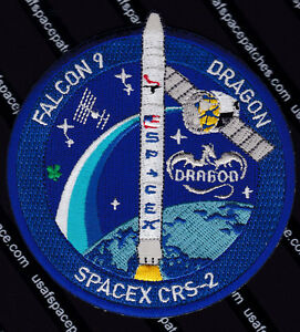 Authentic CRS-2 SPACEX FALCON 9 DRAGON ISS NASA RE-SUPPLY SPACE Mission PATCH