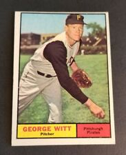 ORIGINAL1961 TOPPS PITTSBURGH PIRATES BASEBALL CARD #286 GEORGE WITT  NR.MT.