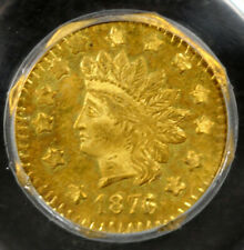 1876/5 $1 PCGS MS63 OGH Indian Octagonal Dollar BG-1129