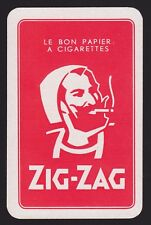 1 Single VINTAGE Swap/Playing Card ADV ZIG ZAG CIGARETTE PAPERS RED Tobacco