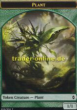 2x Token - Plant (Spielstein - Pflanze) Battle for Zendikar Magic