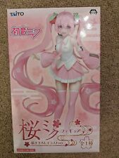 UK SELLER RARE Vocaloid Hatsune Miku Sakura Miku figure 2019 version Taito NEW