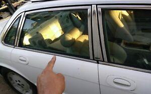 1995-1997 jaguar vanden plas both   rear  door window  chrome trim LWB