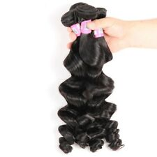 100% Soft Brazilian Virgin Human Loose Wave Hair Extensions Weave Weft Bl rrtt