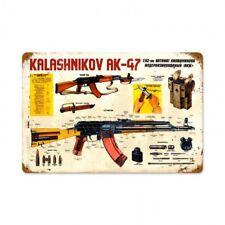 Kalashnikov AK-47 Metal Sign Assault Riffle AK 47 Gum Ammo Vintage Style