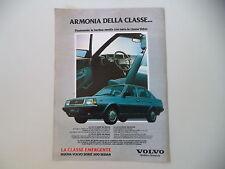 advertising Pubblicità 1985 VOLVO 360 GLE