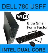 CHEAP FAST DELL OPTIPLEX 780 USFF Intel  Dual Core 4GB RAM 250 GB HDD Win 7 WIFI