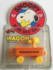 Vintage Peanuts Aviva Snoopy Series Mini Die Cast Woodstock Wagon 1970's