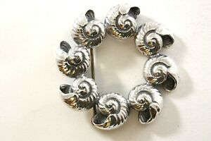 ONE CMI STERLING SILVER SHELL PIN