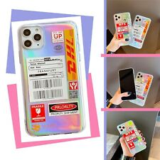 Cool DHL Laser Print Label Case Back Cover For iPhone 8 PLUS X XS XR 11 PRO MAX