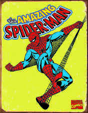 Spider-Man Retro #1437 Vintage reproduction, Garage, Man Cave Metal/Tin