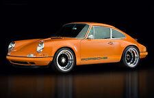 Incorniciato stampa-VINTAGE PORSCHE 911 SUPERCAR (foto poster arte AUTO FERRARI)
