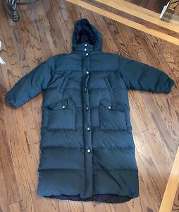 Eddie Bauer Green Goose Down Long Hooded Parka Coat WOMENS  XXL