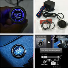 Blue Auto Car SUV Engine Start Push Button Switch Ignition Starter Touch Kit 12V