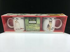Nos Cat Lovers Limited Collectible Turkish Van & Abyssinian Cat Coffee Mug Set
