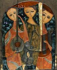 Ruth Faktorowitsch 1937 - Keramikrelief drei Musikanten Israel jüdisch ?