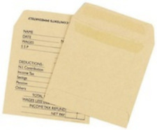 Printed Manilla Self-Seal Wage Pay Envelope  108 x 102mm – 100 Pack KF3430