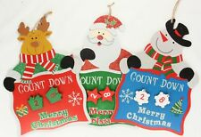 Countdown To Christmas Wall Plaque With Hanging Numbers Xmas Advent Kids Gift