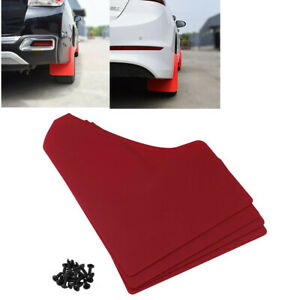 Set of 4 Red Car Fenders Mudflaps Mud Flaps Body Protection Fit for Auto Truck