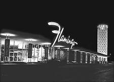 """Old Las Vegas Flamingo 1956 The Strip Historical Photo -17""""x22"""" Art Print- 00175"""