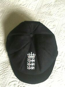 England Adidas beautiful black wool cricket cap - never used! size 7-3/8, 7-1/2