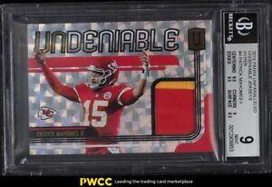 2019 Panini Unparalleled Undeniable Hyper Patrick Mahomes II PATCH /25 BGS 9