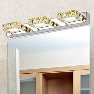 Crystal LED Vanity Wall Mount Light Fixture Mirror Front Lamp 2835 SMD Bathroom