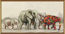 "Cross Stitch Kit NOVA SLOBODA CB3037 - ""Elephant Walk"""